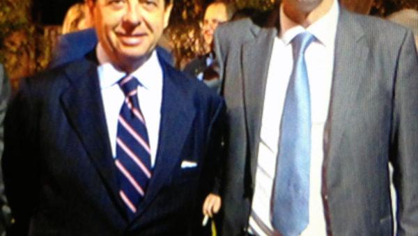 De izda. a dcha. el embajador de España en Chile,Iñigo de Palacio; y Ricardo González Lafuente, Director General de SPYRO.