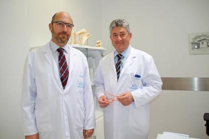 fotografía de los doctores Juan Ponte y Ricardo Cuéllar especialistas en traumatología de Policlínica Gipuzkoa