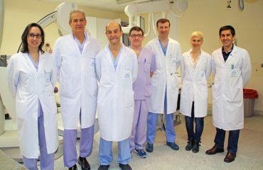 fotografía del equipo de Hemodinámica de Policlínica Gipuzkoa