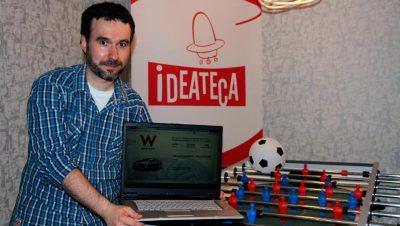 Zigor Zárraga en las oficinas de Ideateca.