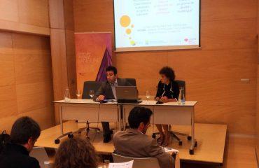 FOTO-de-la-inauguración-de-la-Jornada-con-Fernando-Alana,-Director-General-de-Langune,-y-Maribel-Lorenzo,-Directora-de-Bidasoa-Activa.-inauguracionjornadabidasoalangune_original