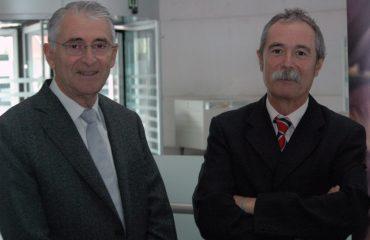 José-Ignacio-Gárate,-presidente-de-la-SGR,-junto-con-el-donostiarra,-Pío-Aguirre,-(a-la-derecha-en-la-imagen)-director-general-de-Oinarri-SGR.