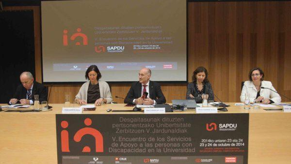 de izquierda a derecha, Ramón Capdevila, Itziar Alkorta, Iñaki Goirizelaia Ordorika, Ángela Barrios e Isabel Martínez Lozano