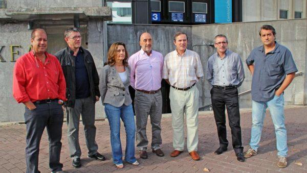 De izquierda a derecha: Lorenzo García, Iñaki Arratibel, Teresa Gaztañaga, Enrique Pérez de Ayala, Ricardo Jimenez, Jose Ignacio Ramírez y Manu Zubillaga.