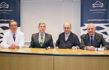 imagen de izq a desc: Dr.Joaquín Fuentes, Dr.Juan Zaballos, Dr. Ignacio Gallo y Dr. Ander Letamendía