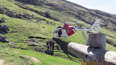 montañero accidentado en el Txindoki Foto-Departamento-de-Interior-G-VIMG_0345