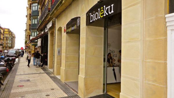 BioLeku supermercado ecológico Donostia San Sebastián. Calle Aldamar nº 16