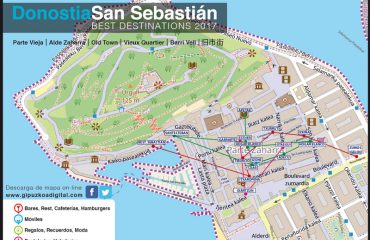 Donostia San Sebastián plano Parte Vieja Best Destinations 2017