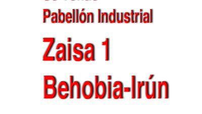 Zaisa-1-Behobia-Irún Se vende pabellón industrial