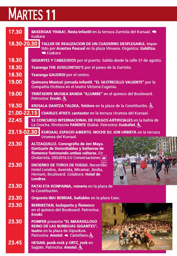Donostia San Sebastián 2015 Semana Grande 11 Agosto