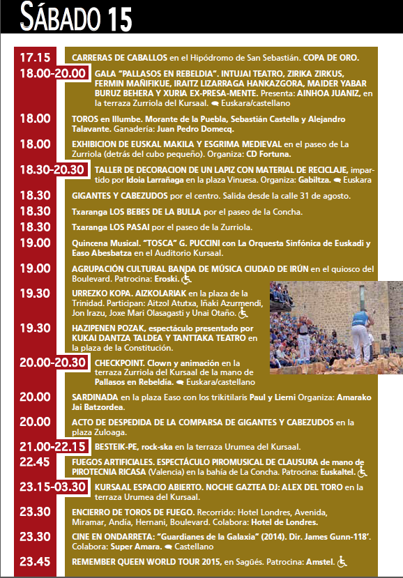 Donostia San Sebastián 2015 Semana Grande