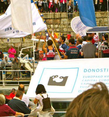 Bandera de la Concha Foto GipuzkoaDigital.com Donostia San Sebastián