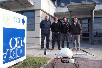 imagen con los responsables de Airestudio Lorenzo Diaz de Apodaca, Alberto Gubia, Iñigo Campo y Alfonso Alemán.
