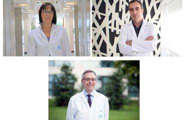 imagen de los especialistas de Policlínica Gipuzkoa, arriba a la izquierda la ginecóloga, Edurne Uzcudun, arriba a la derecha el urólogo, Gregorio Garmendia, y abajo el dermatólogo, Jorge Soto.