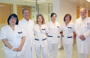 imagen del equipo de Urgencias del Hospital de Día Quirónsalud Donostia.