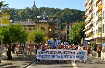 Donostia San Sebastián 2016 antitaurina Foto GipuzkoaDigital.com Donostia San Sebastián