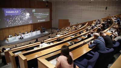FOTO: Imagen del Congreso Tecnologías para la empresa del futuro organizado hoy en San Sebastián por SPYRO y Oracle.