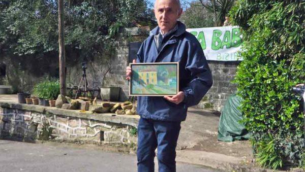 Antxon Larretxea en el homenaje realizado hoy 26 febrero 2017 en Viveros de Ulia GipuzkoaDigital.com Donostia San Sebastián