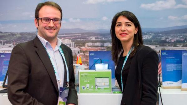 imagen del CEO de Wattio, Patxi Echeveste, y de su responsable comercial, Laura Mendia.