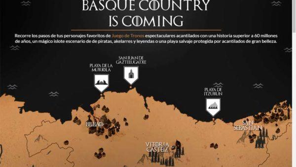 BASQUE COUNTRY IS COMING Juego de Tronos