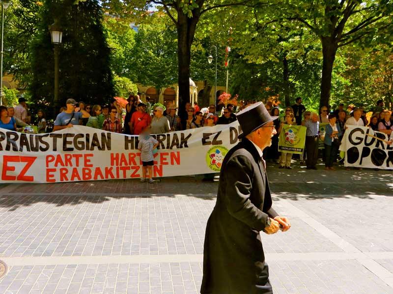 contra de la incineradora de Zubieta 17 Junio 2017 Donostia San Sebastián Gipuzkoa
