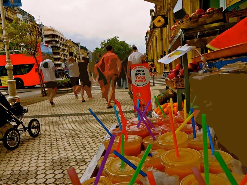zumos naturales Igeldo en Reina Regente Donostia San Sebastián
