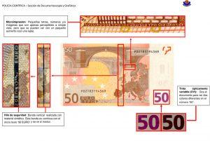 Euskadi, La Ertzaintza alerta de un incremento en la localización de billetes de 50 euros falsos