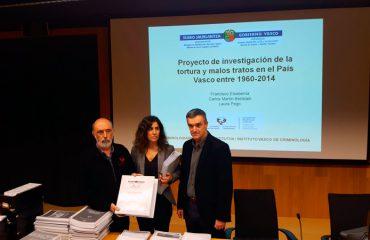 Proyecto de investigación de la tortura y malos tratos en el País Vasco entre 1960-2014