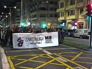Foto GipuzkoaDigital.com 8 de marzo grande en Donostia San Sebastián