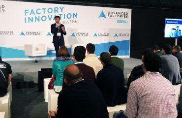 El Director Técnico de Vixion Connected Factory, Iñigo Lazcanotegui, durante la presentación de hoy en Barcelona.