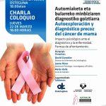 FOTO: Cartel de la charla informativa que se celebrará mañana en la sede del Colegio de Enfermería de Gipuzkoa.
