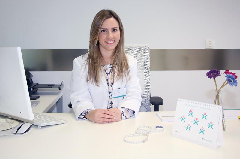 Eider Sánchez, nutricionista de Policlínica Gipuzkoa.