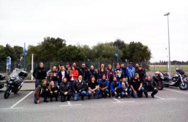 motoristas se reúnen en la Academia Vasca de Policía y Emergencias