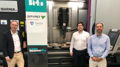 De izda. a derecha, Ricardo González, Alberto Aragón y Xabier Bastarrica, responsables de Vixion Connected Factory