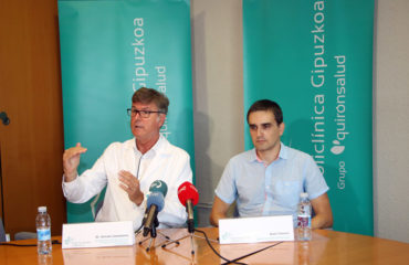 El neurólogo de Policlínica Gurutz Linazasoro y Raúl Jimeno, ingeniero informático de Bunt Planet