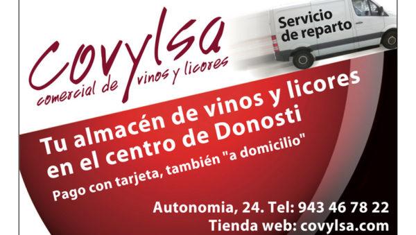 Donostia San Sebastián. COVYLSA Almacén - Venta de vinos y licores. Autonomía Kalea 24. Telf 943 467 822. Grandes ofertas y descuentos. Cupri S. Coop