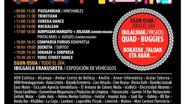 En Errenteria una nueva edición de Elkartasunaren Motorra, sábado 8 de junio 2019