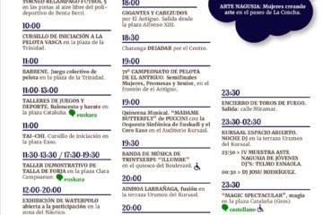 Aste Nagusia Semana Grande Donostia San Sebastián 2019 martes 13 de agosto