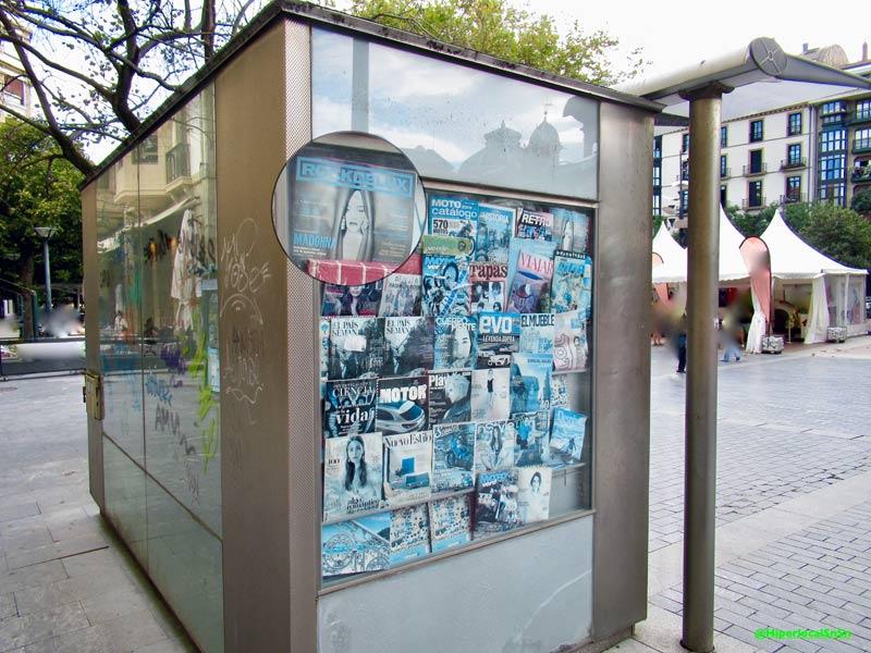 Kiosco de prensa cerrado en Donostia San Sebastián en