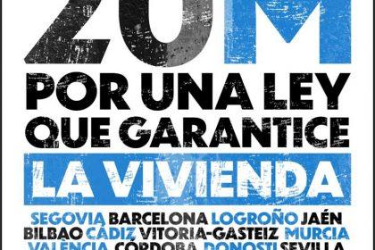 SABADO 20 DE MARZO MANIFESTACION EN DONOSTI DE LAS ORGANIZACIONES GUIPUZCOANAS ADHERIDAS A LA INICIATIVA POR LA LEY DE VIVIENDA ESTATAL