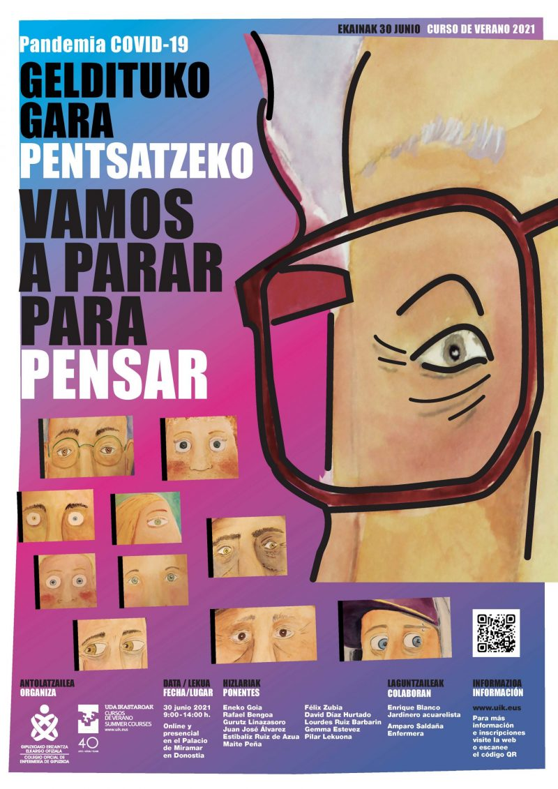 Cartel de la jornada profesional organizada por el COEGI Colegio Oficial de Enfermería de Gipuzkoa (COEGI)