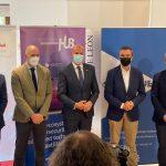 Imagen de la presentación celebrada en León con la asistencia de Xabier Mitxelena (Cybasque) y Javier Diéguez (BCSC).